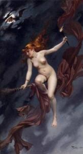 метла и ведьма