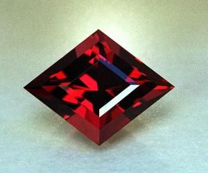 насыщенный рубин