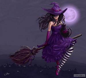 ведьмачка на метле