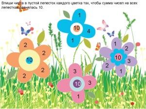 Числа цветы